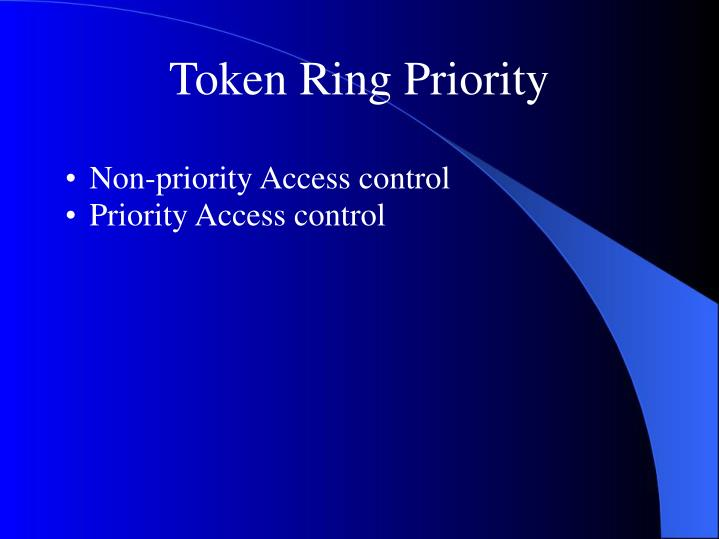 Token Ring Priority
