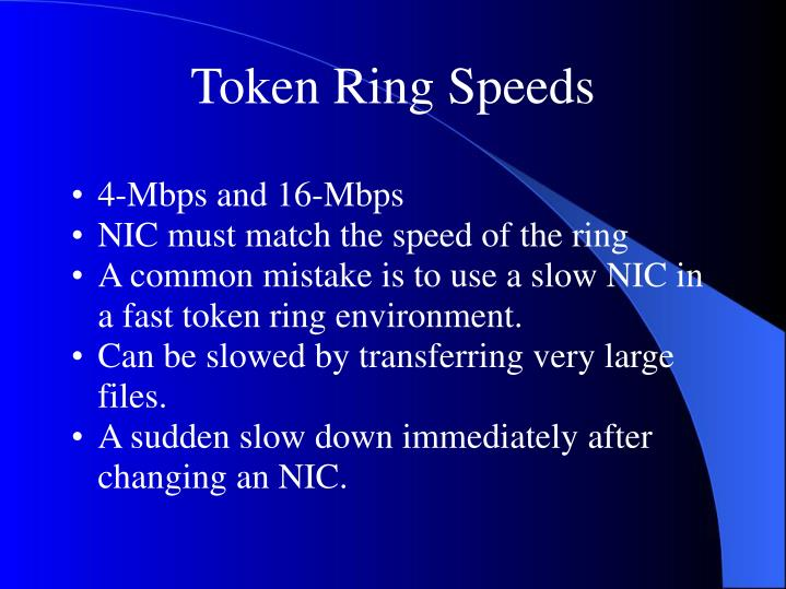 Token Ring Speeds