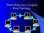 token ring uses a logical ring topology
