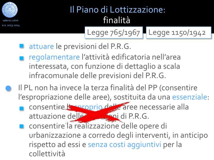 Il Piano di Lottizzazione: