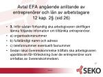 avtal efa ang ende anlitande av entrepren rer och l n av arbetstagare 12 kap 2 sid 262