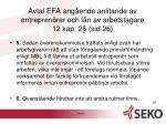 avtal efa ang ende anlitande av entrepren rer och l n av arbetstagare 12 kap 2 sid 264
