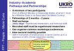 industry academia pathways and partnerships