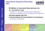 international outgoing fellowships iof