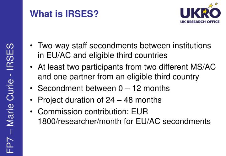 What is IRSES?
