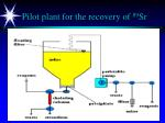 pilot plant for the recovery of 89 sr
