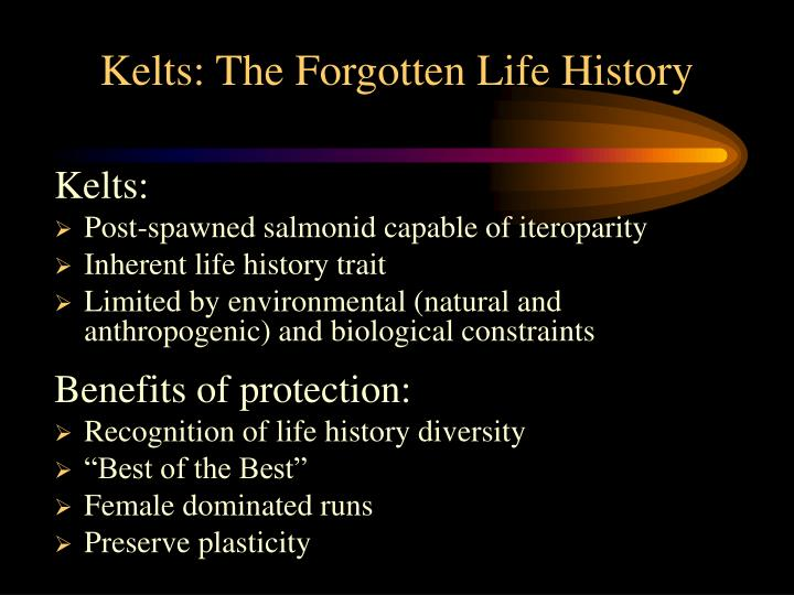 Kelts: The Forgotten Life History