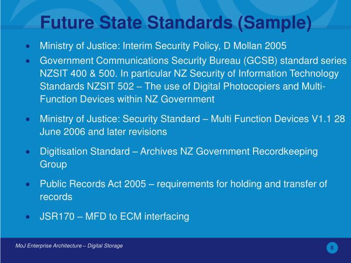 Future State Standards (Sample)