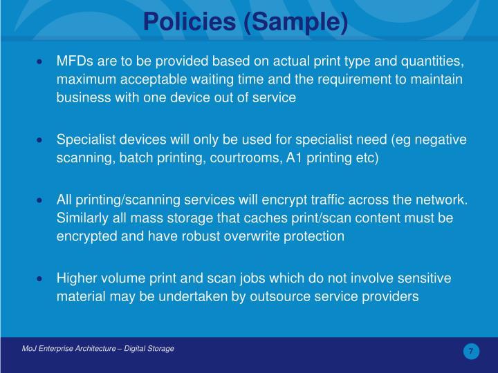 Policies (Sample)