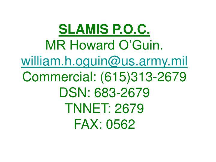 SLAMIS P.O.C.