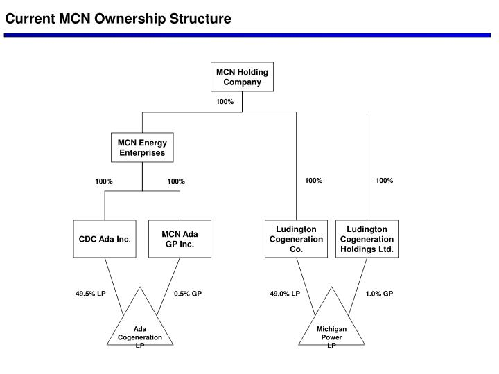 Current MCN Ownership Structure