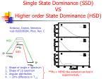 single state dominance ssd vs higher order state dominance hsd