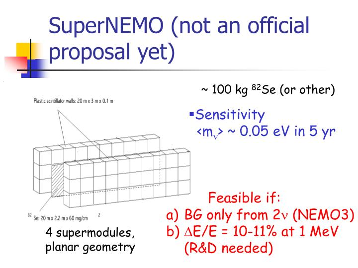 SuperNEMO (not an official proposal yet)