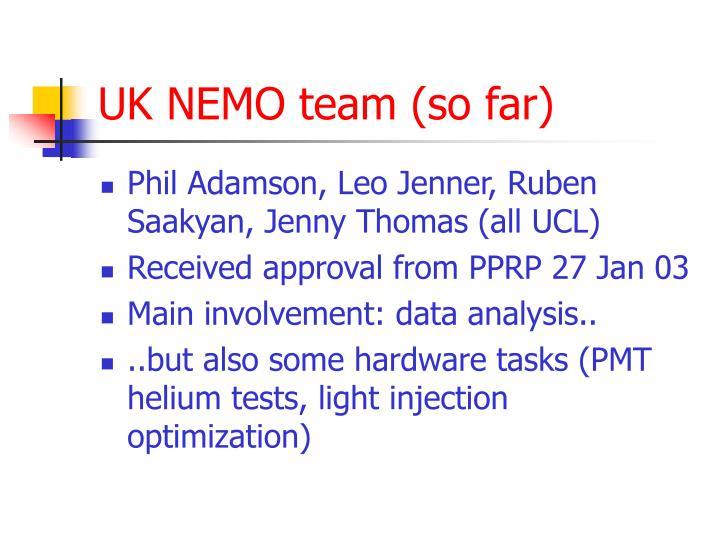 UK NEMO team (so far)