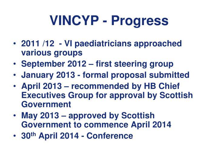VINCYP - Progress