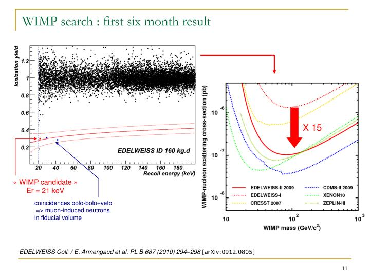 WIMP search : first six month result