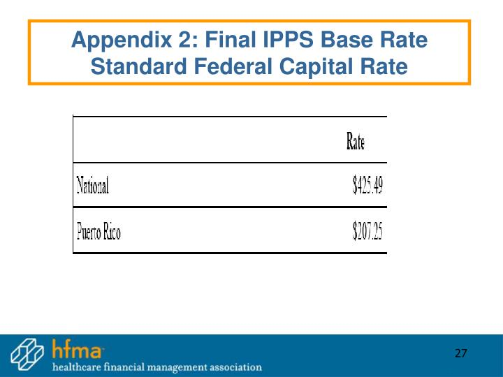 Appendix 2: Final IPPS Base Rate