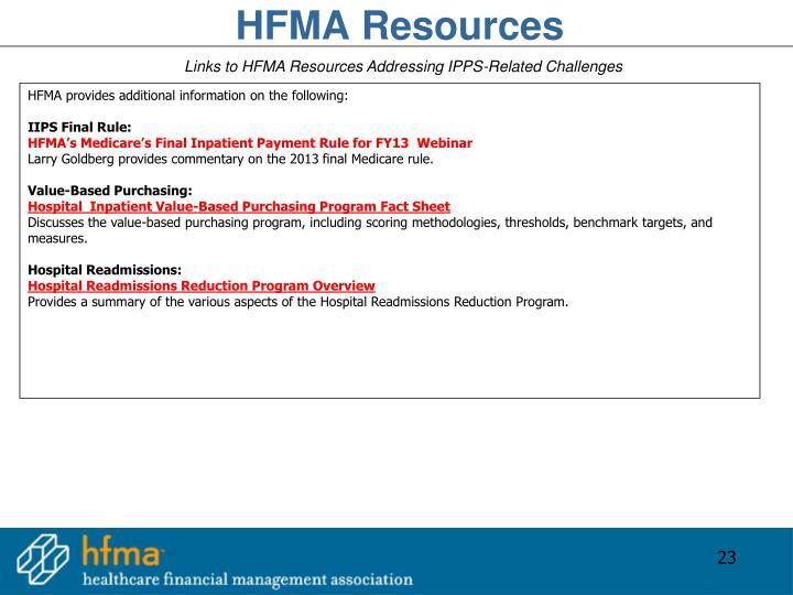 HFMA Resources