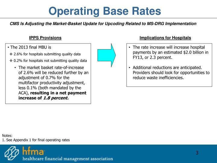 Operating Base Rates