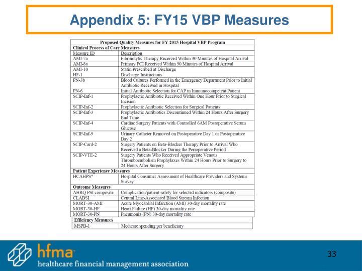 Appendix 5: FY15 VBP Measures