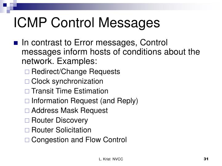 ICMP Control Messages