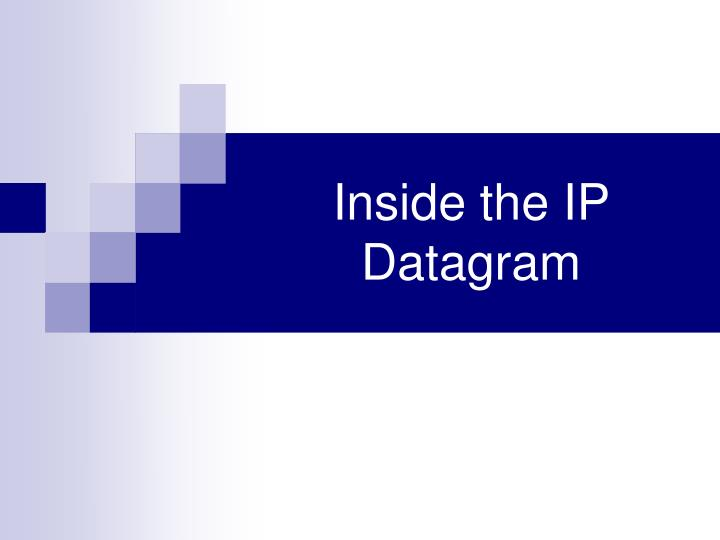 Inside the ip datagram