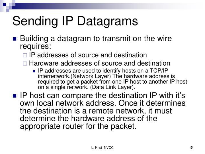 Sending IP Datagrams