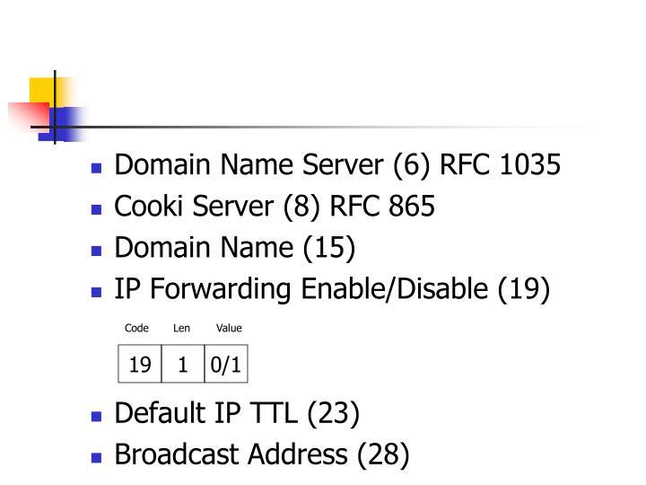 Domain Name Server (6) RFC 1035