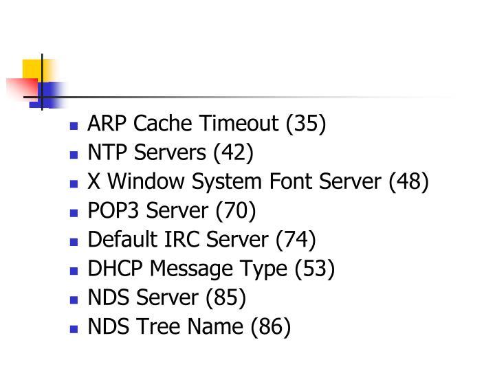 ARP Cache Timeout (35)