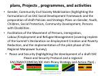 plans projects programmes and activities1
