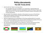 policy documents the eac treaty art5