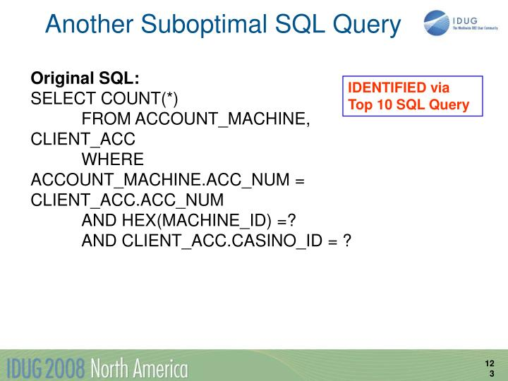 Another Suboptimal SQL Query