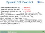 dynamic sql snapshot1