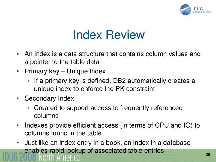 Index Review