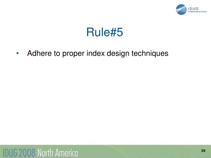 Rule#5