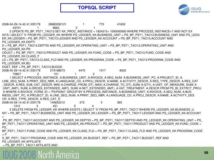 TOPSQL SCRIPT