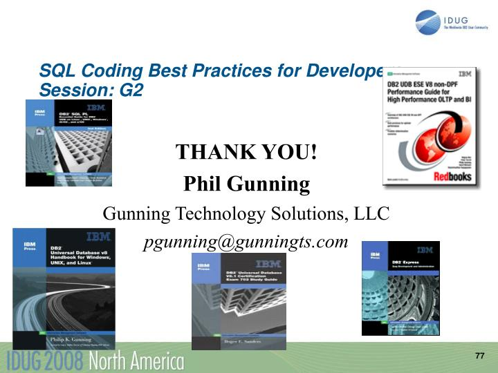 SQL Coding Best Practices for Developers