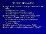 3d cam controllers3