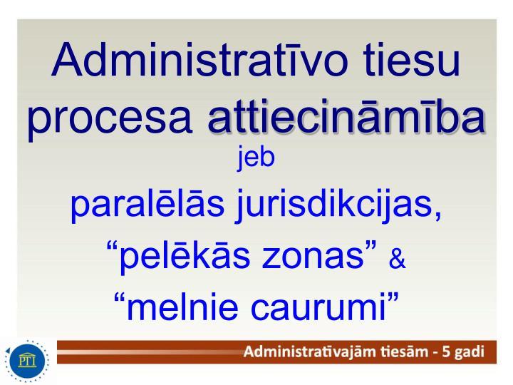 Administratīvo tiesu procesa