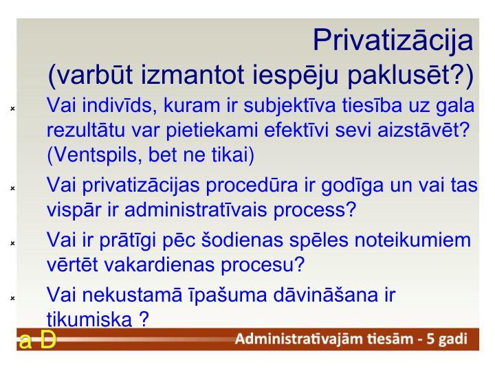 Privatizācija
