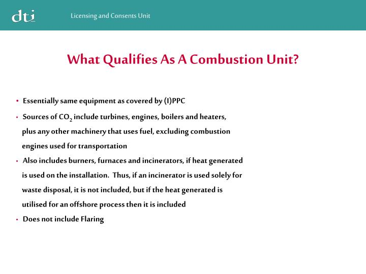 What Qualifies As A Combustion Unit?