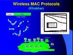 wireless mac protocols khokhar