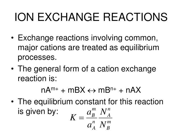 ION EXCHANGE REACTIONS