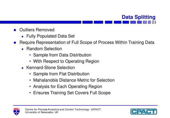 Data Splitting