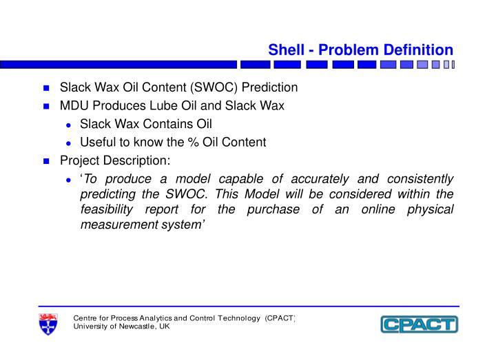 Shell - Problem Definition