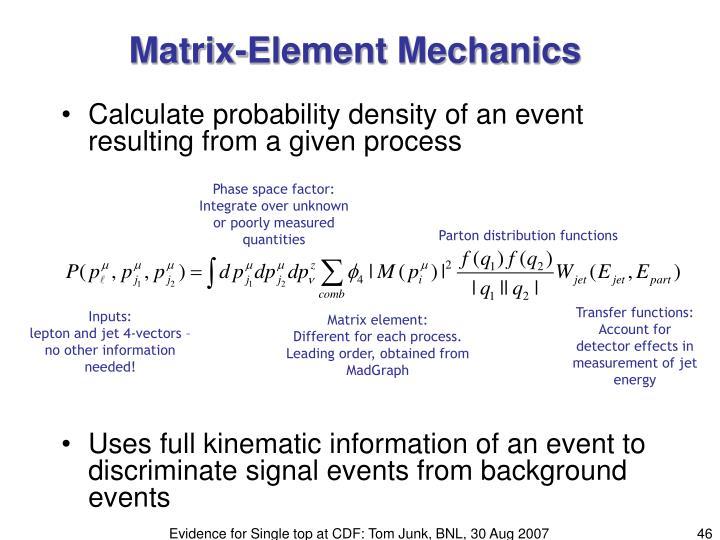 Matrix-Element Mechanics