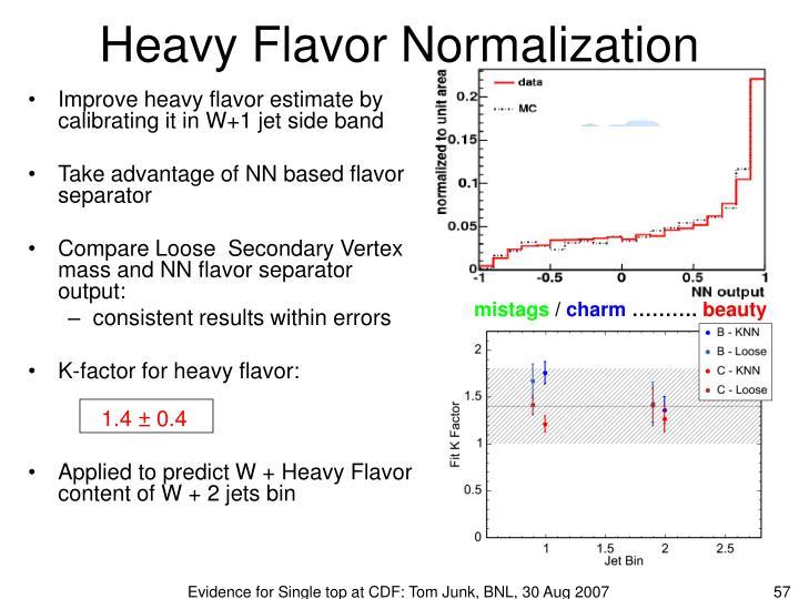 Heavy Flavor Normalization