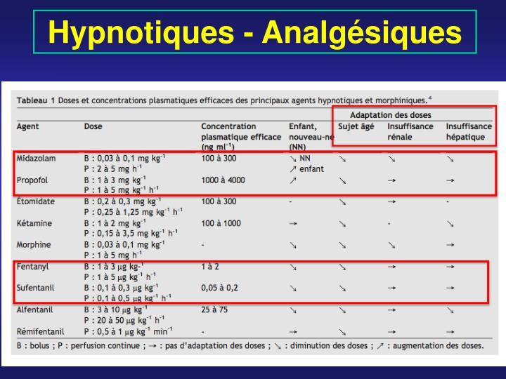 Hypnotiques - Analgésiques