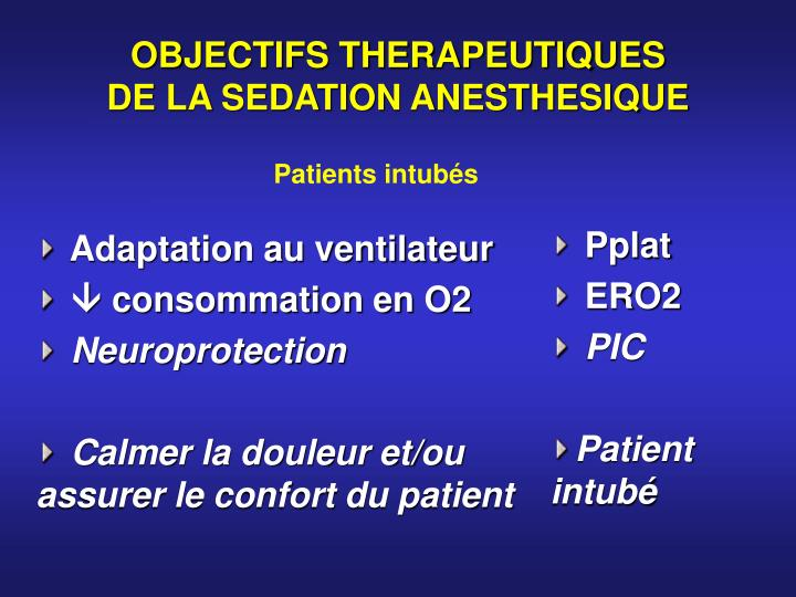 OBJECTIFS THERAPEUTIQUES