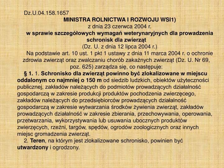 Dz.U.04.158.1657